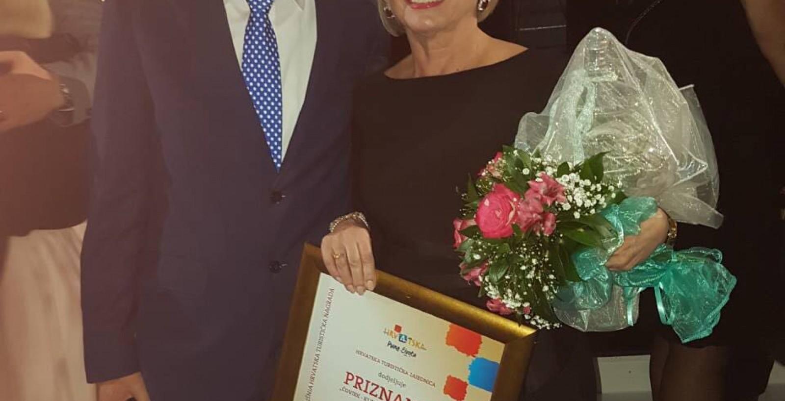Nagrađena Ružica Rašperić- Čovjek, ključ uspjeha u turizmu